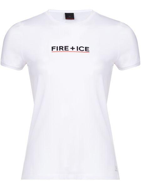 Хлопковая футбольная белая футболка Bogner
