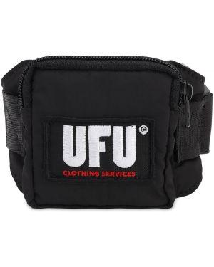 Czarny pasek z paskiem klamry Ufu - Used Future