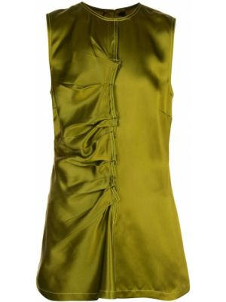 Блузка без рукавов батник зеленый Sies Marjan