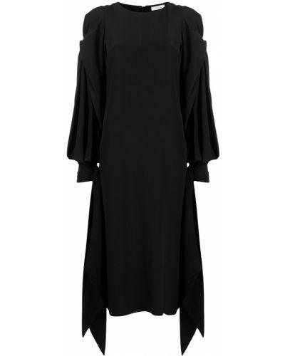 Асимметричная черная юбка макси с драпировкой Nina Ricci