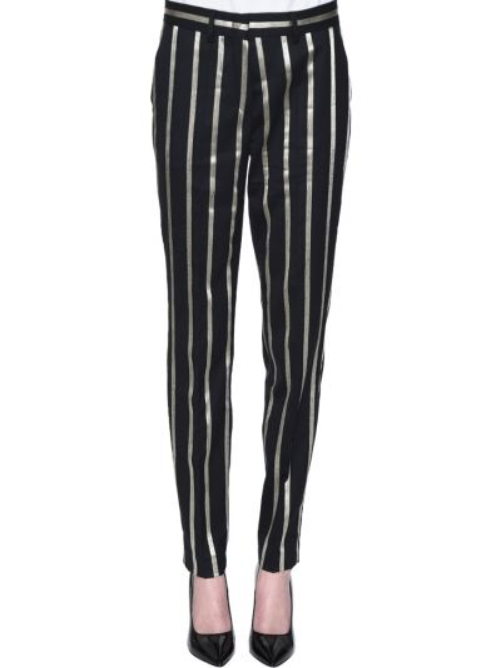 Шерстяные брюки - черные Rene Lezard