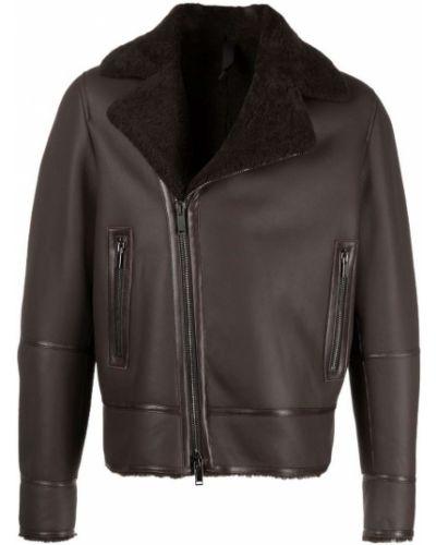 Кожаная куртка длинная - коричневая Tagliatore