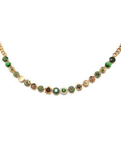 Зеленое ожерелье с камнями Amaro