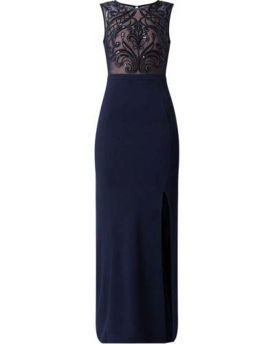 Niebieska sukienka wieczorowa rozkloszowana Lipsy
