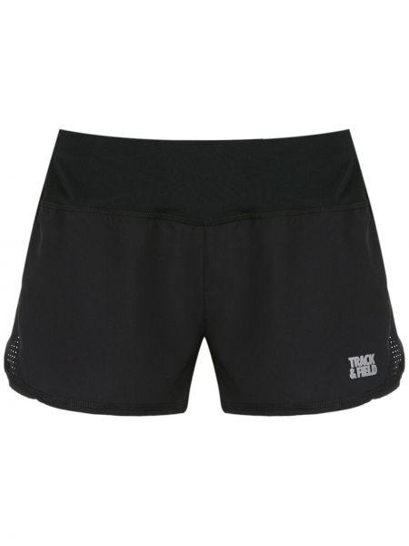 Черные спортивные шорты эластичные Track & Field