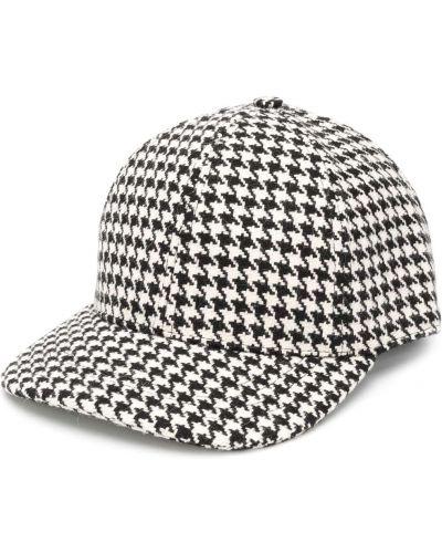 С ремешком шерстяная черная кепка Ami Paris