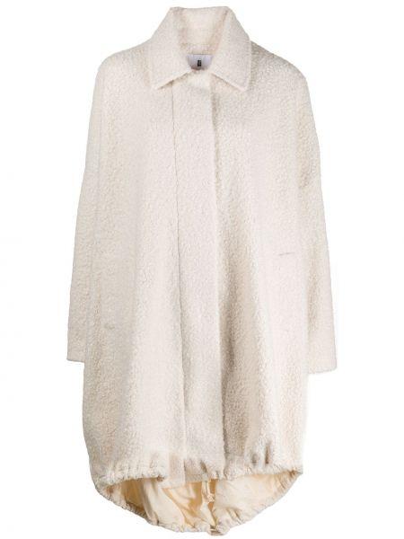 Белое свободное пальто свободного кроя с карманами Asai