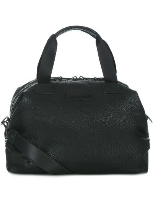 Ciepła czarna torebka skórzana Tiba + Marl