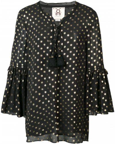 Блузка в горошек - черная Figue