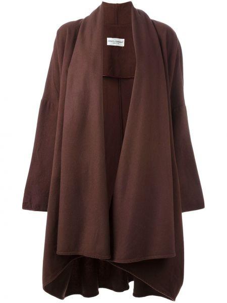 Красное свободное шерстяное пальто с воротником Dolce & Gabbana Pre-owned