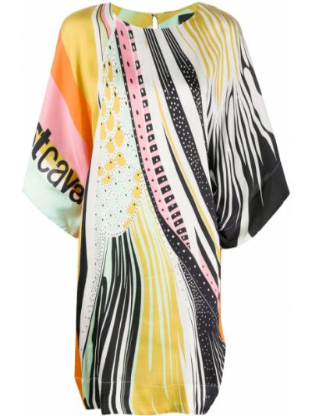 Платье трапеция - зеленое Just Cavalli