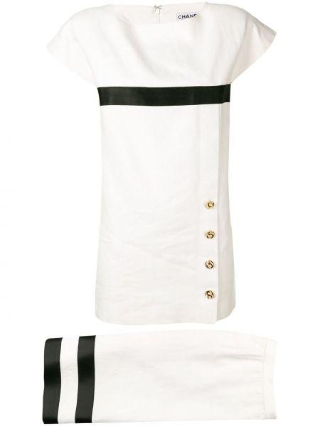 Прямая юбка мини с поясом винтажная с вырезом Chanel Pre-owned