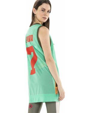 Зеленое платье с принтом Puma