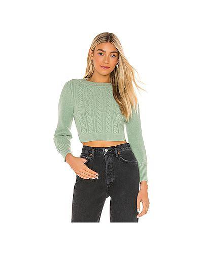 Акриловый зеленый вязаный свитер For Love & Lemons