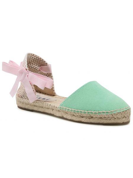 Zielone sandały zamszowe Manebi
