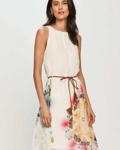 Sukienka mini rozkloszowana na co dzień z wiskozy Desigual