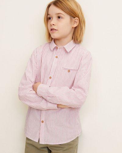 Рубашка с узором красный Mango Kids