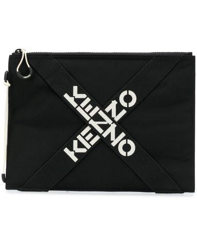 Черный клатч на молнии Kenzo