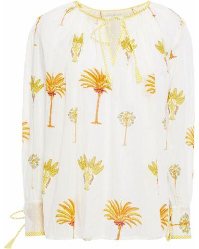 Хлопковая бежевая блузка в полоску Antik Batik