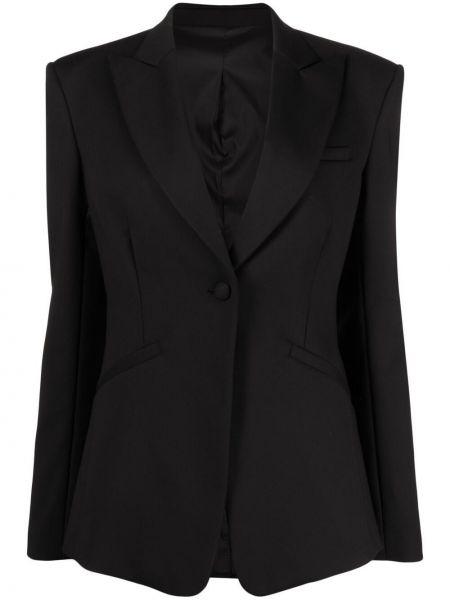 Однобортный черный приталенный классический пиджак Toteme