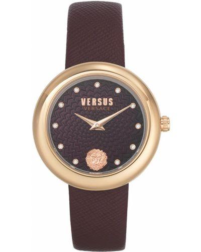 Zegarek kwarcowy skórzany z paskiem Versus Versace