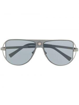 Серые солнцезащитные очки металлические Versace Eyewear