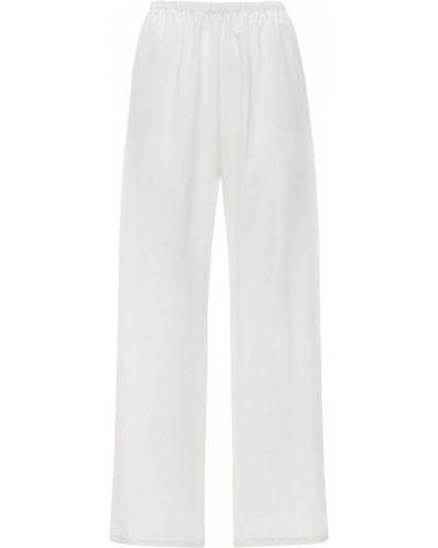 Шелковые брюки - белые Laura Urbinati
