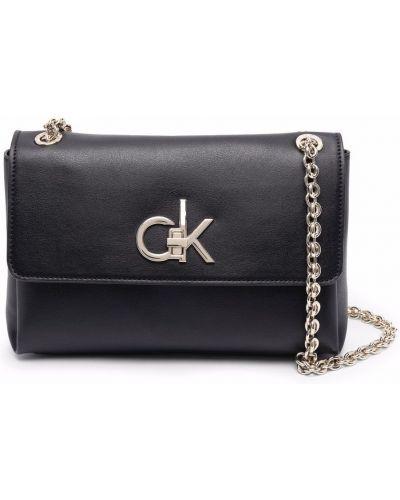 Черная сумка металлическая Calvin Klein