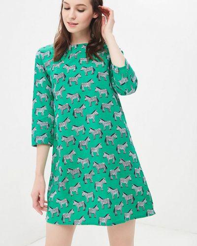 Зеленое платье льняное Compania Fantastica