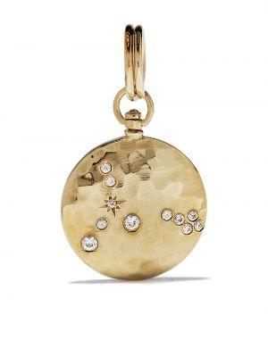 Żółty medalion z szafirem okrągły Feidt Paris