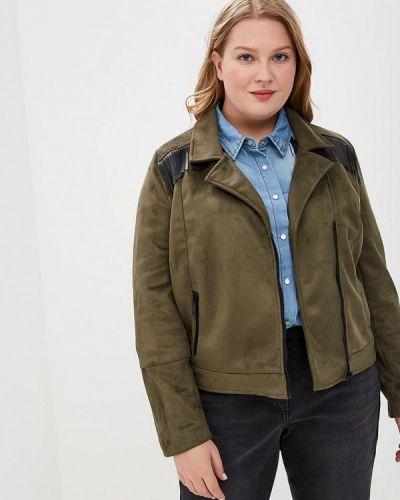 Кожаная куртка весенняя зеленая Studio Untold