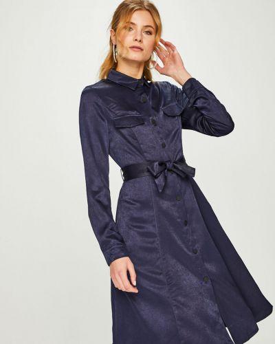 Платье миди с поясом прямое Answear