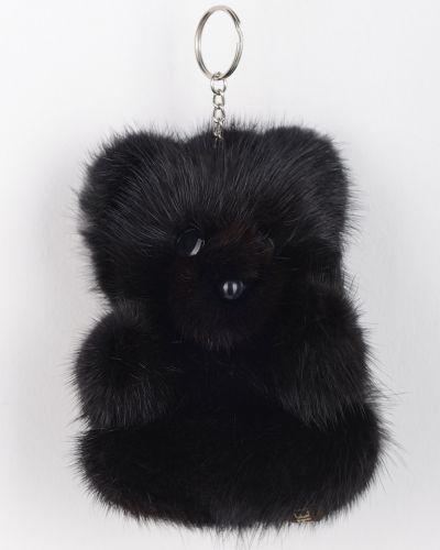 Норковый черный брелок каляев