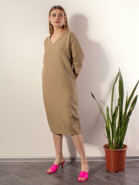Повседневное платье - бежевое Mariolli