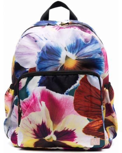 Plecak w kwiaty - niebieski Molo Kids