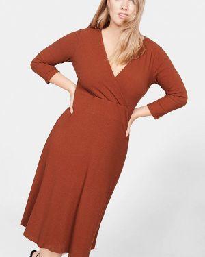 Платье осеннее вязаное Violeta By Mango