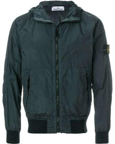 Длинная куртка с капюшоном милитари облегающая Stone Island