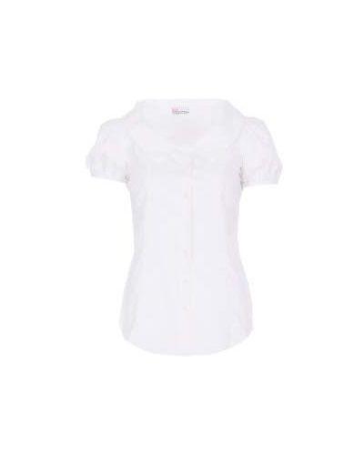 Белая хлопковая блузка Valentino Red