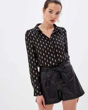 Блузка с длинным рукавом черная Sweewe