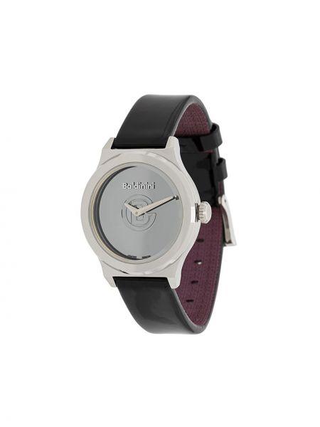 Часы на кожаном ремешке с круглым циферблатом черные Baldinini