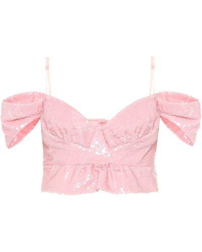 Топ розовый бюстье Simone Rocha