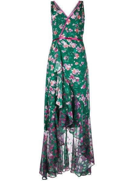 Платье с запахом с цветочным принтом Marchesa Notte