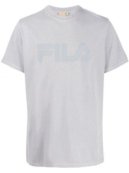 T-shirt bawełniany z haftem krótki rękaw Astrid Andersen