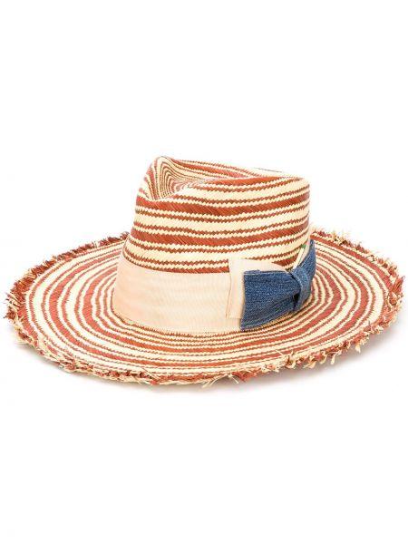 Соломенная шляпа соломенная свободного кроя Nick Fouquet