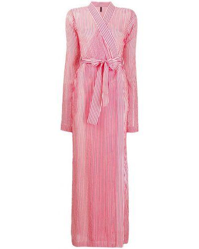 Платье макси в полоску с прозрачными рукавами Unravel Project