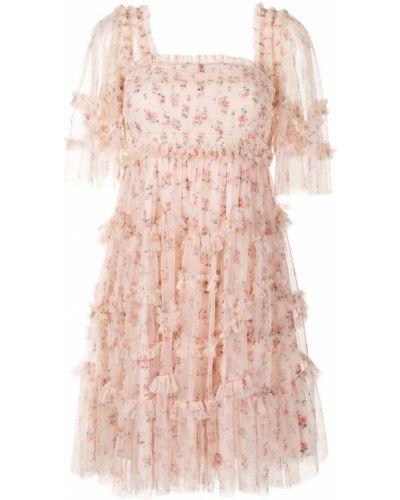 Розовое платье короткое Needle & Thread
