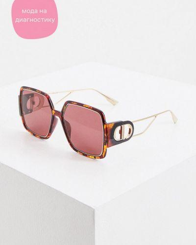 Коричневые солнцезащитные очки квадратные Christian Dior