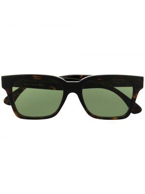 Золотистые коричневые солнцезащитные очки с американской проймой Retrosuperfuture