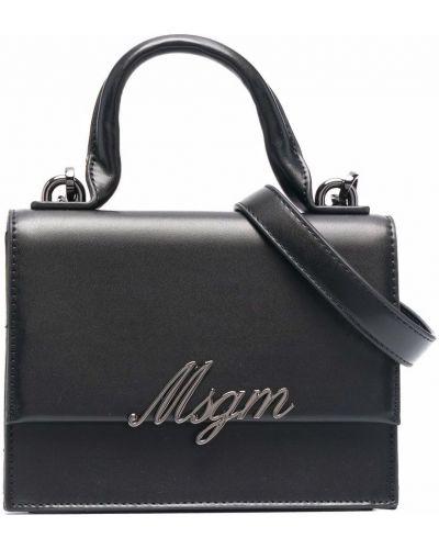 Czarna torebka srebrna Msgm Kids