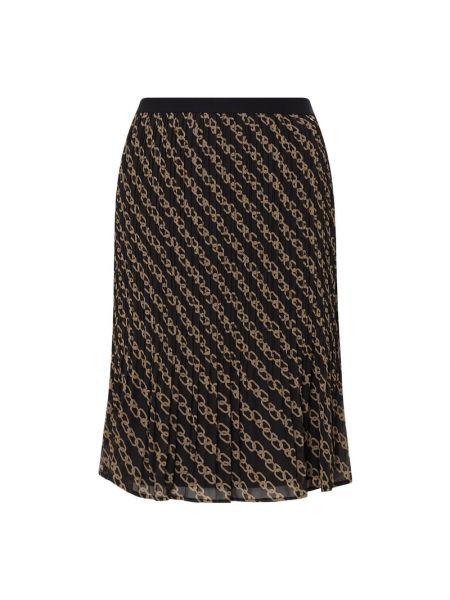 Czarna spódnica midi rozkloszowana z szyfonu Samoon